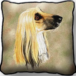 Afghan Hound Pillow, Made in the USA