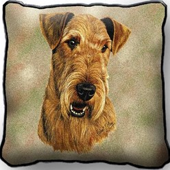 Airedale Pillow, Made in the USA