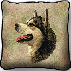 Alaskan Malamute Pillow, Made in the USA