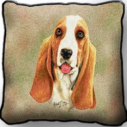 Basset Hound Pillow, Made in the USA