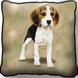 Beagle Puppy Pillow, Made in the USA