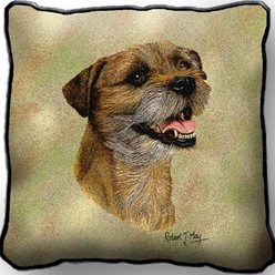 Border Terrier II Pillow, Made in the USA