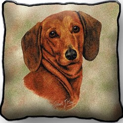 Dachshund Pillow, Made in the USA