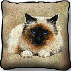 Birman Cat Pillow, Made in the USA