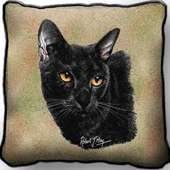 Bombay Cat Pillow, Made in the USA
