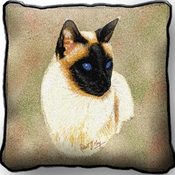 Siamese Cat Pillow, Made in the USA