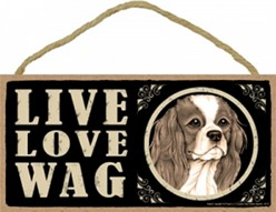 Spoiled Rotten Cavalier King Charles Sign, a Unique Dog Gift