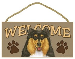 Collie Welcome Sign, a Terrific Dog Breed Gift