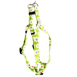 Green Daisy Step-In Harness