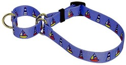 Sailboats and Lighthouses Martingale Collar