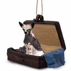 Chinese Crested Traveling Companion Ornament