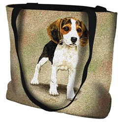 Beagle Puppy Tapestry Tote Bag