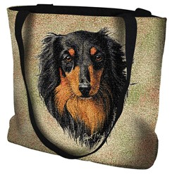 Dachshund Longhaired Tote Bag