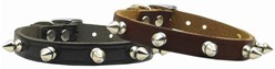 Spike Leather Collar, Made in the USA