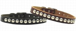 Stud Leather Collar, Made in the USA