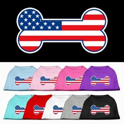 American Flag Bone Pet Tee