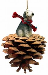 Pine Cone Bedlington Terrier Dog Christmas Ornament