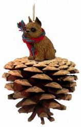 Pine Cone Brussels Griffon Dog Christmas Ornament