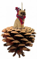 Pine Cone Cairn Terrier Dog Christmas Ornament