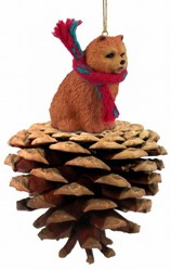 Pine Cone Chow Chow Dog Christmas Ornament