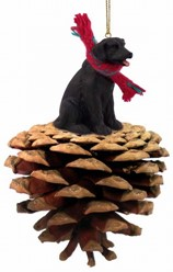 Pine Cone Lab Retriever Christmas Ornament