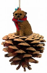 Pine Cone Norfolk Terrier Dog Christmas Ornament