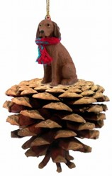 Pine Cone Vizsla Dog Christmas Ornament