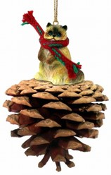 Pine Cone Ragdoll Cat Christmas Ornament