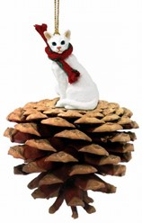 Pine Cone Oriental Shorthair Cat Christmas Ornament