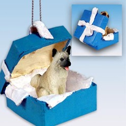 Akita Gift Box Holiday Ornament