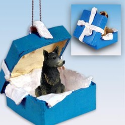 Australian Cattle Dog Gift Box Holiday Ornament