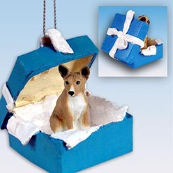 Basenji Gift Box Holiday Ornament