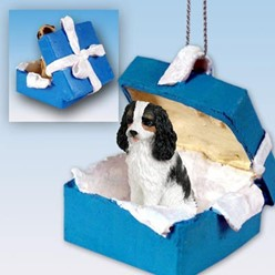 Cavalier King Charles Gift Box Holiday Ornament
