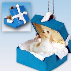 Petit Basset Griffon Vendeen Gift Box Holiday Ornament