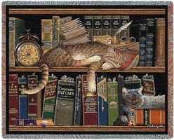 Remington the Well Read Cat Throw