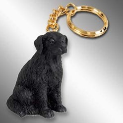 Flat Coated Retriever Dog Key Chain