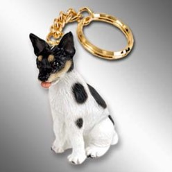 Rat Terrier Dog Key Chain