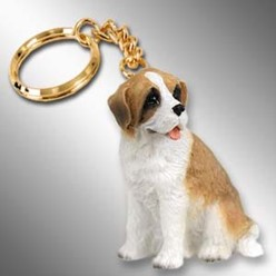 Saint Bernard Dog Key Chain