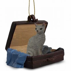 Cornish Rex Cat Traveling Companion Ornament