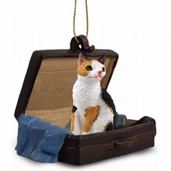 Japanese Bobtail Cat Traveling Companion Ornament
