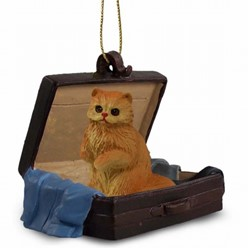 Persian Cat Traveling Companion Ornament