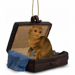 Scottish Fold Cat Traveling Companion Ornament