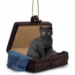 Black Cat Traveling Companion Ornament