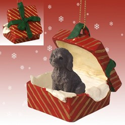 Labradoodle Gift Box Christmas Ornament