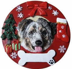 Australian Shepherd Christmas Ornament That Can Be Personalized