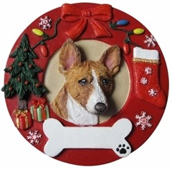 Basenji Christmas OrnamentThat Can Be Personalized