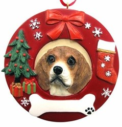 Beagle Christmas Ornament That Can Be Personalized