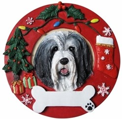 Bearded Collie Christmas Ornament That Can Be Personalized