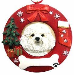 Bichon Frise Christmas Ornament That Can Be Personalized