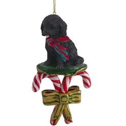 Candy Cane Cockapoo Christmas Ornament